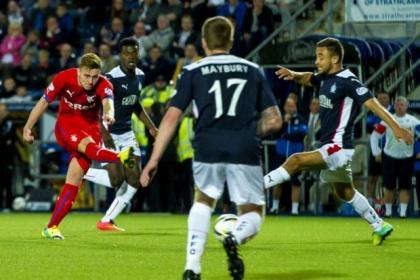 Lewis Macleod's deflected effort put Rangers ahead against Falkirk