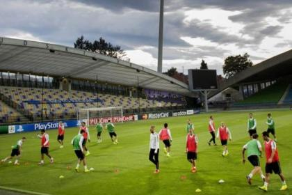 Celtic train at the Ljudski vrt stadium ahead of their Champions League clash with Maribor
