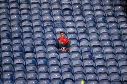 There were thousands of empty seats at Ibrox on Saturday