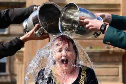 Lord Provost gets deluged in the ice bucket challenge