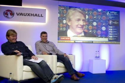 Scotland assistants Stuart McCall and Mark McGhee were at Hampden to watch Gordon Strachan's reaction to the Euro 2016 draw