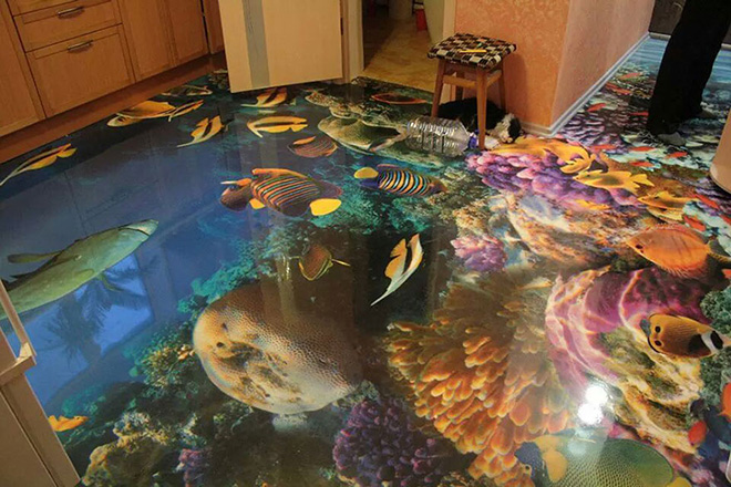 and shopping centres in the United Arab Emirates  but are set to make  their way into people s homes as more people opt for outlandish house decor. In pictures  Trippy 3D bathroom floors   Evening Times